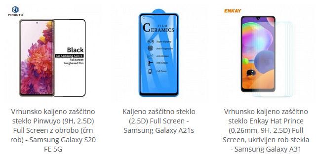 Samsung kaljena zaščitna stekla